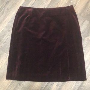Trending GAP Velvet Pencil Skirt SZ 8 NWOT